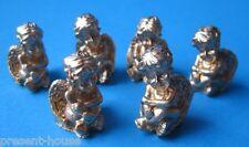 Mini Engel Set 6 Stück goldfarben Puppenhaus Dekoration Miniaturen 1:12
