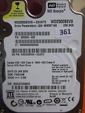 250gb Western Digital WD 2500 BEVS - 22ust0   facvjab   03 Jan 2008 #361