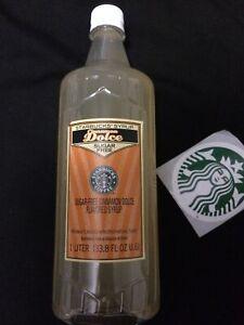 New Sealed Starbucks Sugar Free Cinnamon Dolce Flavored Syrup 1 Liter Bottle