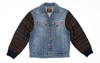 Vintage Lee Sanforized Denim Knit Sleeve Jean Jacket Size S Small