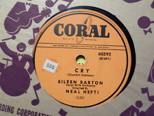 CORAL 78 RECORD 60592/EILEEN BARTON/NEAL HEFTI/CRY/HOLD ME JUST A LITTLE LONGER