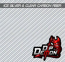 Ice SILVER & CLEAR CARBON FIBER HYDROGRAPHIC WATER TRANSFER FILM HYDRO DIPPING