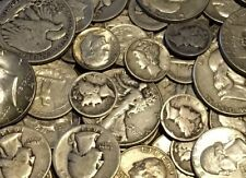 $100 Face Value US 90% SILVER COINS LOT-Pre 1965-No Nickels! Great Mix
