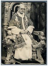 Paul VI  Vintage silver print Tirage argentique  13x18  Circa 1963