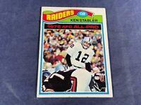 T4-3 FOOTBALL CARD - KEN STABLER OAKLAND RAIDERS - 1977 TOPPS - CARD #110