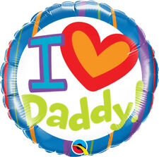18inch I Love Daddy Balloon Kids Father's Day Single Round Foil Babies Qualatex