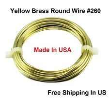 14 Ga Solid Yellow Brass Jewelry & Craft Wire HALF HARD (11 Ft. Coil / 2 Oz)
