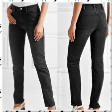 Acne Jeans Womens Tube Cash High Rise Straight Leg 30 Black Cotton Blend Stretch