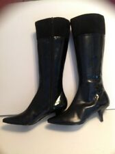 MODA BLACK KNEE HIGH BOOTS SIZE 6B SUEDE AND LEATHER NEW WITHOUT BOX