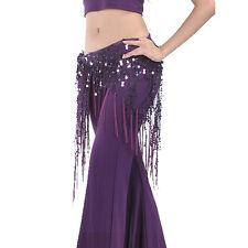 NEW Belly Dance Costume Tribal Triangle Sequins Tassel Hip Scarf Skirt Belt Wrap