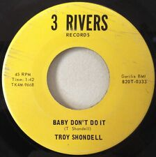 Troy Shondell 1966 Baby Don't Do It~ 3 Rivers 0333 Ft. Wayne IN Country Rock VG+