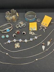 Posten Silber ca.300 Gramm 800er bis 925er Silberschmuck Konvolut teils antik