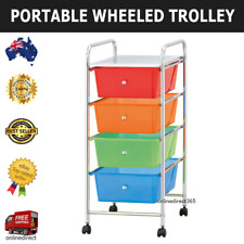 Wheeled Trolley Bathroom Office Home Storage Organiser Rack Shelf Portable Cart