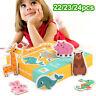 frühe bildung lernen. form montessori puzzle - spiele große karten das puzzle