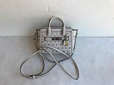 NWT COACH 57138 Swagger in Pebble Leather With Ombre Rivets Handbag SV/Chalk