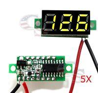 5X pcs Yello DC 0-30V LED Display Digital Voltage Voltmeter Panel Car Motorcycle