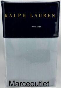 Ralph Lauren Bedford Sateen 800 Thread Count QUEEN Fitted Sheet Sanibel Blue