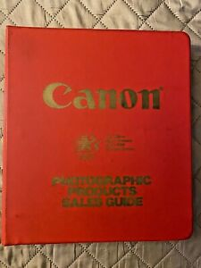 Rare 1984 Canon Dealer Camera Price List & Sales Guide Thick Binder F-1 FD Lens