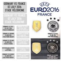 MATCH DETAILS Patch Aufdruck Flock Print DFB Deutschland EM 2016 Trikot Spiel