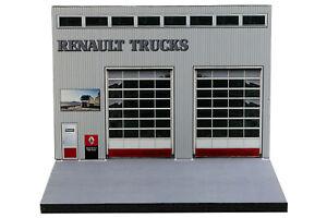 Diorama Garage Renault Trucks - 1/87ème | HO - #HO-2-A-A-004