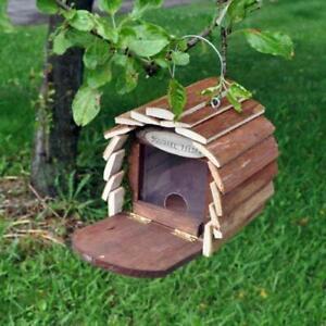 Wooden Squirrel Feeder Garden Feeding Station Box Hanging House Hotel Kingfisher