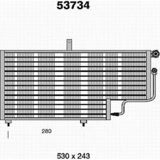 Kondensator Klimaanlage Klimakühler PEUGEOT 205 AHE  53734