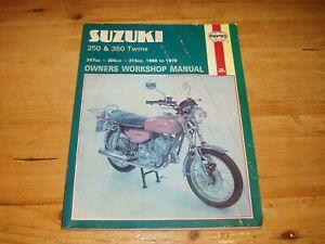 Haynes Manual for Suzuki 250 & 350 Twins 1968-1978
