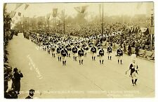 Real Photo Postcard Fon Du Lac Drum & Bugle Legion Parade Omaha Nebraska 1920s