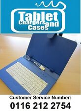 """Blue/White USB Keyboard Case/Stand for Acer Iconia Tab A1-810 7.9"""" Tablet PC"""