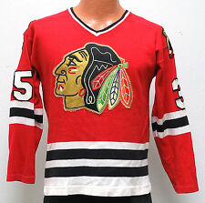 vtg TONY ESPOSITO #35 Chicago Blackhawks Jersey Fit SMALL 70s/80s NewEra sewn S