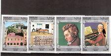 Lotto n 4 francobolli - SHARJAN & DEPENDENCIELS - Wolfgang Amadeus Mozart
