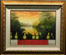 James Jensen Untitled  pears Original Pastel on Paper Custom Framed Hand Signed