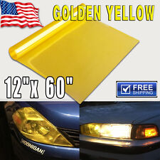 "12"" x 60"" Gold Smoke Car Truck Motor Headlight Tail Light Tint Vinyl Film Sheet"