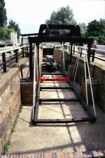 PHOTO  1986 STOKE BRUERNE THIS IS A BARGE WEIGHING DEVICE. THE CANAL MUSEUM AT S