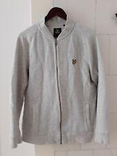 LYLE & SCOTT Men Zip Jumper Vintage Sweater Cardigan jacket Size L Large retro