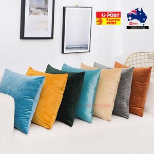Velvet Plain Solid Colour Cushion Covers Cover Decorative Pillow Case Premium