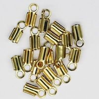 French Crimp Beads for crimping wire Goldtone Pack of 100
