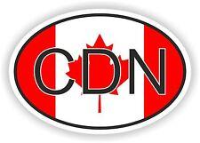 OVAL CANADA CODE CDN WITH FLAG STICKER AUTO MOTO TRUCK LAPTOP BIKE TABLET CAR
