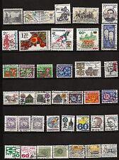 136 TCHECOSLOVAQUIE 38 timbres oblitérés usages courants et divers avant 1990