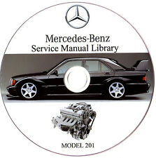 Mercedes Benz W201 Service Repair Workshop Manual 190E 190D 1984-1993 on CD