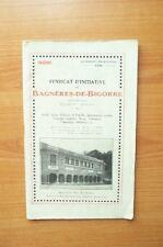SYNDICAT D'INITIATIVE DE BAGNERES-DE-BIGORRE (hautes-Pyrénées) thermal