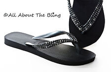 4ae0a215e16a Havaianas flip flops or Cariris wedge using Swarovski Black crystals