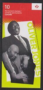 2013 Canada SC# BK 525-Oliver Jones-booklet of 10-M-NH