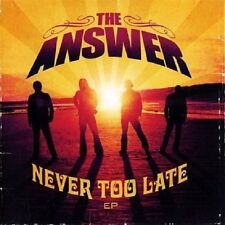 Never Too Late [CD/DVD] [EP] by The Answer (Northern Ireland) (CD, Nov-2008, 2 D