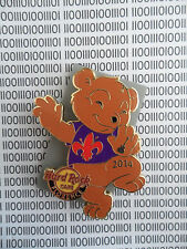 Hard Rock Cafe Florence 2014 -  Fleur de Lis Bear - Dancing HRC Pin