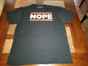 Black NOPE Novelty Men's  T-Shirt.