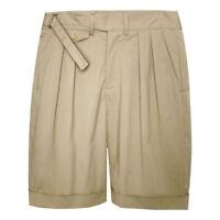 Summer Mens Gurkha Shorts Retro UK Army Military Loose Fit Casual Pants Bermuda