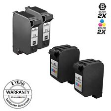 4pk Reman for HP 15 78 C6615DN C6578DN Black & Tri Color Ink Cartridge Set