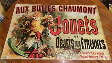 Eye Catching Aux Buttes Chaumont Jouets Circus Art Poster Print, 24 x 36 Inches