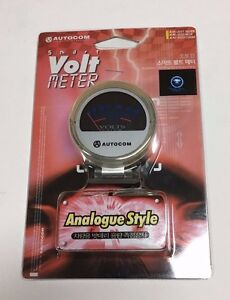 AUTOCOM SMART CLEAR ANALOGUE STYLE 6 TO 18 VOLT METER GAUGE SMOKE JDM G-AM3553